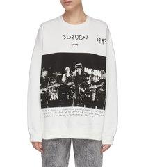 'u2 sweden' crewneck oversize sweater