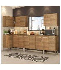 cozinha completa de canto madesa emilly rock com armário, balcão e adega rustic rustic