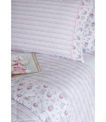 fronha avulsa infantil 200 fios dayse - scavone - branco/rosa - dafiti
