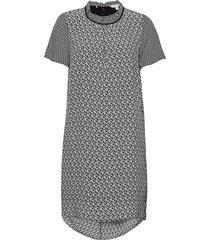 dion dress ss kort klänning grå tommy hilfiger