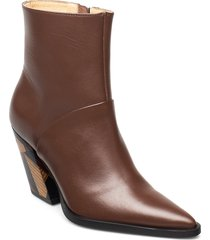 escape from reality shoes boots ankle boots ankle boot - heel brun anny nord
