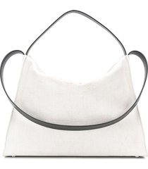 aesther ekme new duffle contrast strap tote bag - white