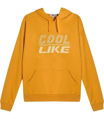 buzo hombre cool like color amarillo, talla l