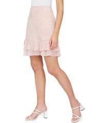 lucy paris amy printed ruffled skirt