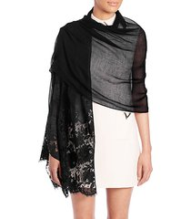 lace-trimmed scarf
