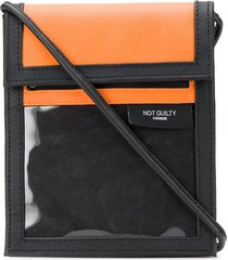 not guilty homme touch strap crossbody bag - orange