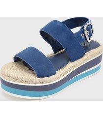 sandalia athena azul nine west