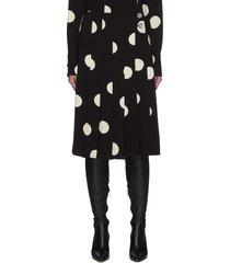 broken dot graphic print skirt