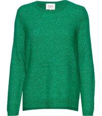brook knit new o-neck stickad tröja grön second female