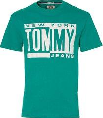 tommy jeans t-shirt - modern fit - groen