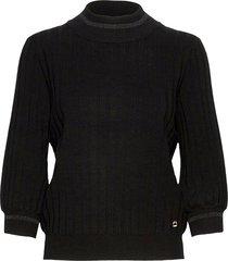 allie knit stickad tröja svart morris lady