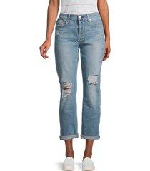 7 for all mankind women's josefina squiggle skinny boyfriend jeans - crest - size 29 (6-8)
