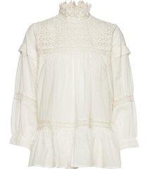 cia blouse lange mouwen wit rabens sal r