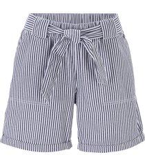 shorts paper bag a righe (blu) - bpc bonprix collection