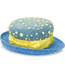 mi mi sol mesh layer sun hat - blue
