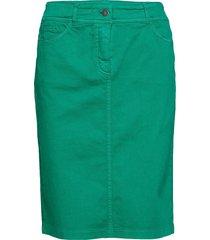skirt short woven fa knälång kjol grön gerry weber edition