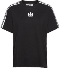 adicolor 3d trefoil loose t-shirt w t-shirts & tops short-sleeved svart adidas originals