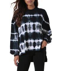 women's electric & rose neil tie dye sweatshirt, size x-small - blue