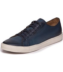 sapatenis masculino em couro azul jeans - mazuque 637070 - azul marinho - masculino - dafiti