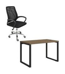 mesa escritório kappesberg office 1.20m com cadeira trevalla tl-cde-34-1