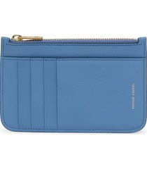 mansur gavriel leather cardholder wallet - blue