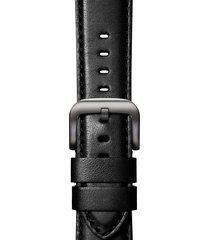 shinola rail road leather apple watch strap