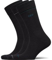 cr7 mens socks 3-pack underwear socks regular socks svart cr7