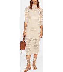 mango crochet long dress