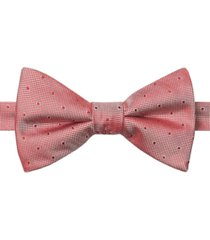 tommy hilfiger men's textured dot bow tie