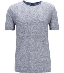 boss men's t-tesar 20 regular-fit linen t-shirt