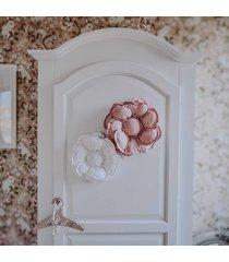 lniany dekoracyjny kwiat na ścianę - róż