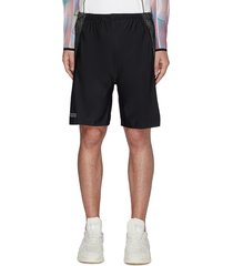 colourblock perforated side tennis shorts