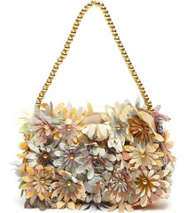 'inflorescence' floral baguette shoulder bag