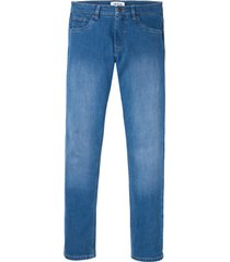 jeans elasticizzati in cotone biologico slim fit straight (blu) - john baner jeanswear