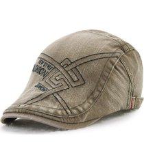 unisex berretto in cotone devalé ricamato con visiera e fibbia berretto cabbie