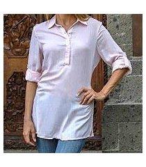 long rayon tunic, 'new tiara' (indonesia)