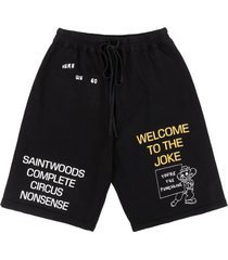 """""""you're the punchline"""" cotton shorts, black"""