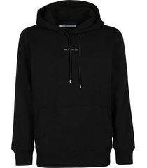 1017 alyx 9sm black cotton blend sweatshirt