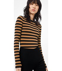 mk body in viscosa stretch a righe - terra/nero (naturale) - michael kors