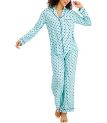 alfani printed ultra-soft pajama set, created for macy's