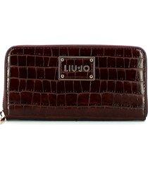 liu jo womens brown wallet