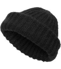 berretto a maglia alto lavorato a maglia da uomo, con cappuccio, senza maniche, senza maniche