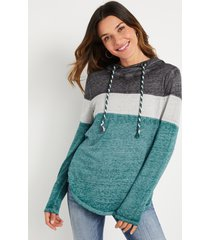 maurices womens teal colorblock hoodie blue