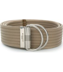 givenchy double ring belt - neutrals