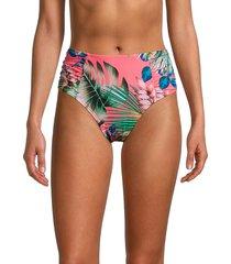la blanca women's tropical high-rise bikini bottom - blue moon - size 10