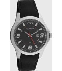 relógio technos 2115mxs/2p preto/prata