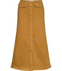 astridgz long skirt lång kjol gul gestuz