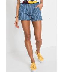 jeans short met strepen
