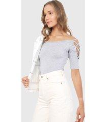 blusa gris ambiance
