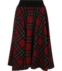 red valentino shetland tartan skirt